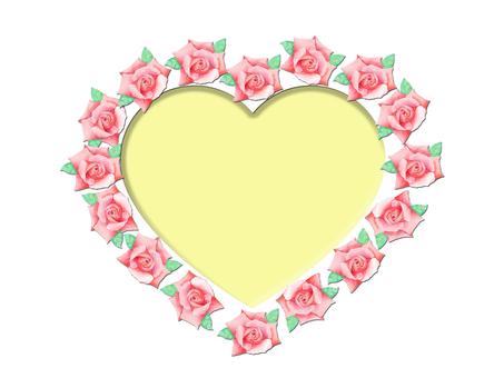 Heart-shaped rose ★ 0384-R