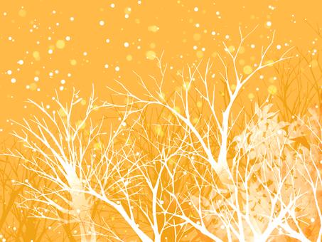 Winter landscape (Orange)