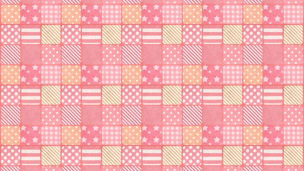 Dot check pink background wallpaper