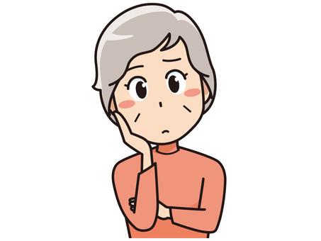 Thinking elderly women