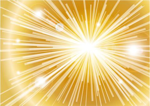 CG 빛의 집중 선 - 금