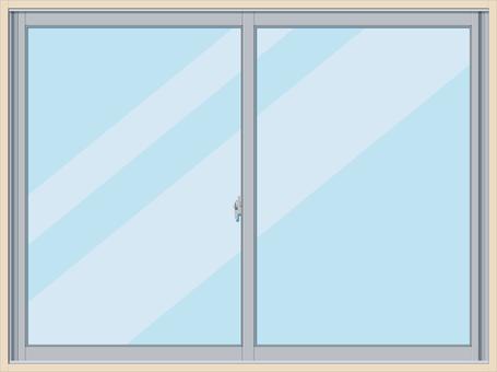 Window frame sash waist window