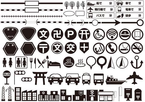 Map material set