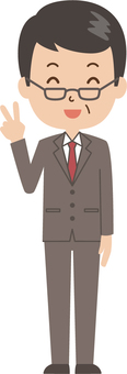 Middle-aged man   salaried worker   suit   piece