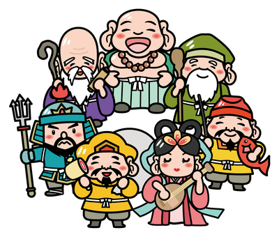Illustration of the Seven Lucky Gods A