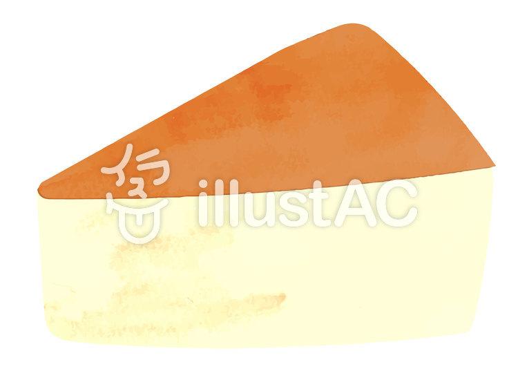 水彩風素材09 チーズケーキのイラスト