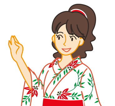 Yukata upper body
