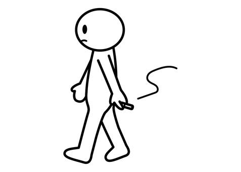 【お題】棒人間-歩きタバコ
