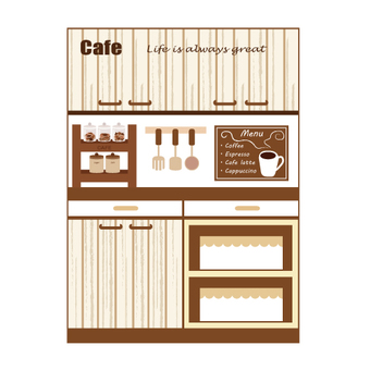 Cupboard (cafe style kitchen)