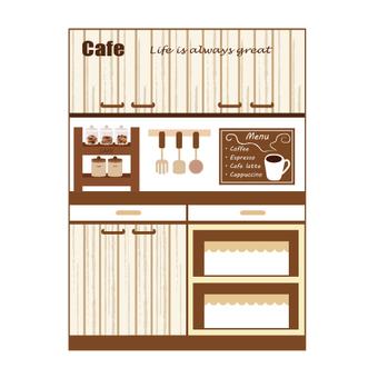 찬장 (카페 바람 주방)