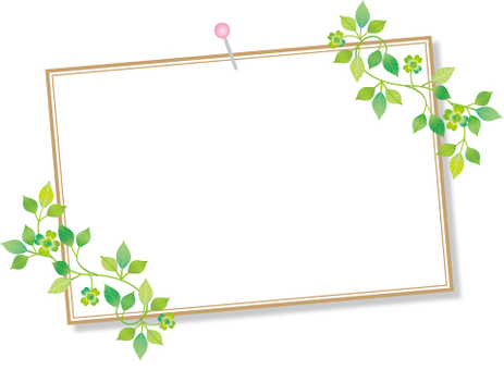 Leaf photo frame