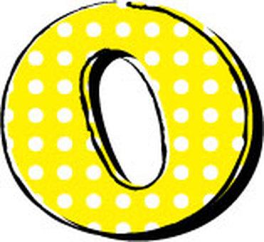 Dotted alphabet O