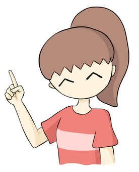 Older sister holding a finger