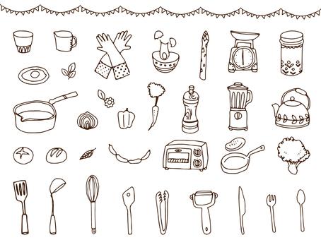 Cookware / foodstuffs Pen picture set