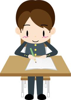 Studying 01 (boys student)
