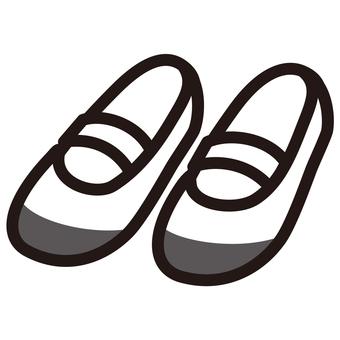 上靴 上履き 白黒