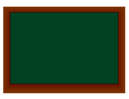 It is an illustration of a blackboard.