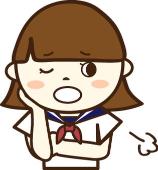 세라복의 여학생 (곤란 얼굴 3)