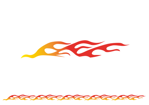 Flame parts 1 _ red yellow gradation