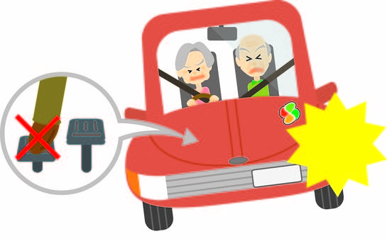 Elderly driver couple ☆ accelerator stepping mistake