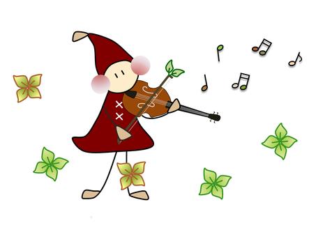 Doll _ instrument _ violin _ tea