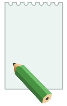 메모지와 연필