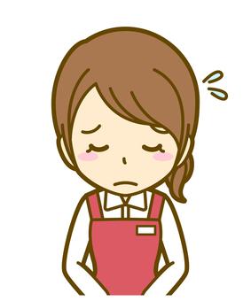 Woman (salesman): B_ bow 04BS