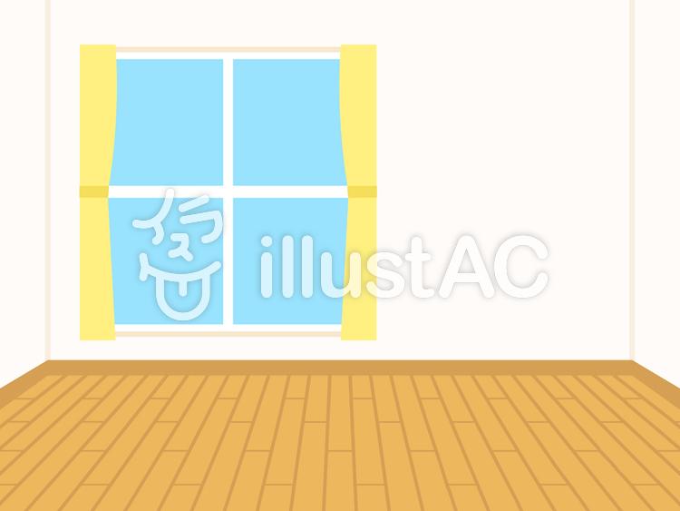 簡単な家 フローリング部屋 背景イラスト No 無料イラストなら イラストac