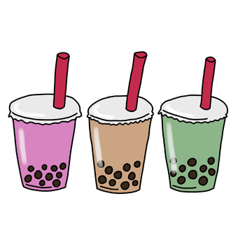 Three colorful tapioca