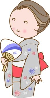 Woman in yukata