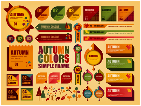 Simple autumn color frame
