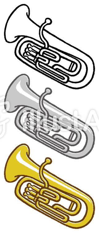 楽器ユーフォニアム3色イラスト No 222989無料イラストなら
