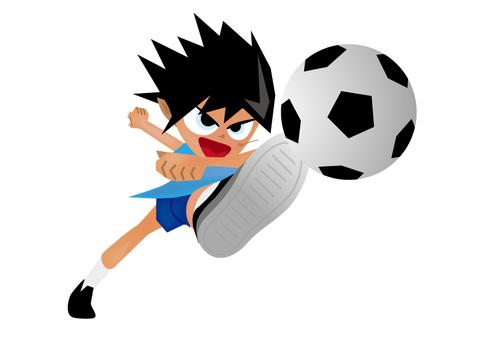 サッカー少年 シュート