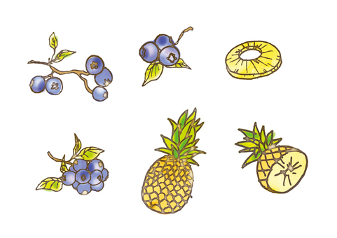 Watercolor style fruit assortment _04