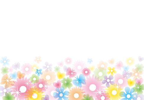 Glittering clear flower frame