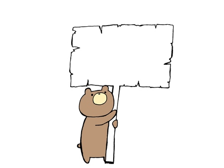 Bear and Placard 2 of 2