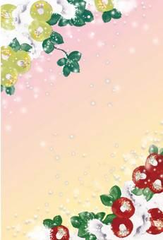 꽃 _ 천 _ 빨강과 흰색 01