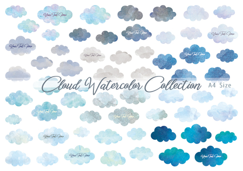 Weather Water color cloud Earth color A4