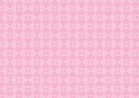분홍색의 기하학적 배경 화면
