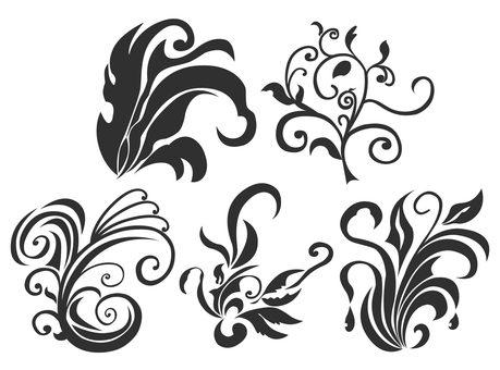 Art Nouveau Decoration 01 (Black)