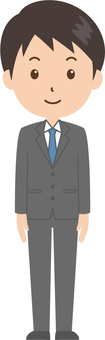 Male | salaried worker | suits | standing