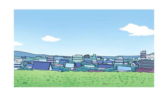 Bank landscape