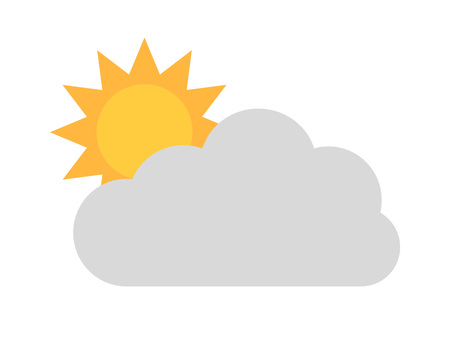 Weather icon Cloudy, sunny