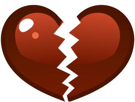 Broken heart chocolate