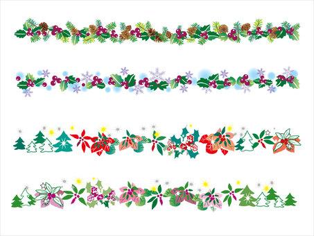 Line _ flower 05 Christmas