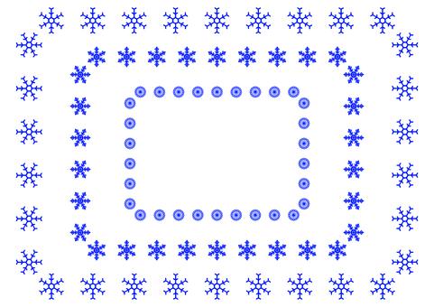 Simple snow crystal frame 1