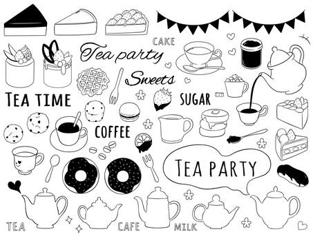 Tea time black and white