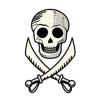 Skull and sword