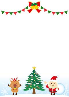 シンプルなクリスマスのフレーム