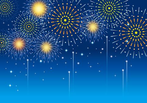 Fireworks blue background 3